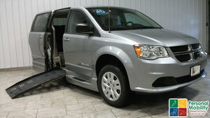 New Wheelchair Van For Sale: 2018 Dodge Grand Caravan SE Wheelchair Accessible Van For Sale with a BraunAbility Entervan - Manual on it. VIN: 2C7WDGBG9JR276785