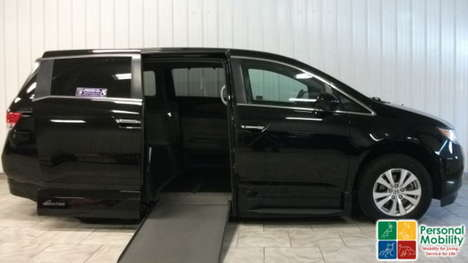Used Wheelchair Van For Sale: 2016 Honda Odyssey EX-L Wheelchair Accessible Van For Sale with a VMI Honda Northstar on it. VIN: 5FNRL5H6XGB017971