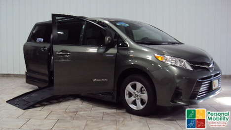 New Wheelchair Van For Sale: 2020 Toyota Sienna SE Wheelchair Accessible Van For Sale with a BraunAbility Toyota Rampvan XL on it. VIN: 5TDKZ3DC3LS079721