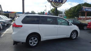 Used Wheelchair Van For Sale: 2014 Toyota Sienna LE  Wheelchair Accessible Van For Sale with a Freedom Motors - Manual Toyota Rear Entry on it. VIN: 5TDKK3DC6ES424473