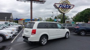 Used Wheelchair Van For Sale: 2013 Dodge Caravan  Wheelchair Accessible Van For Sale with a AutoAbility Wheelchair Van Conversions - Rear Entry Dodge on it. VIN: 2C4RDGBG7DR639633