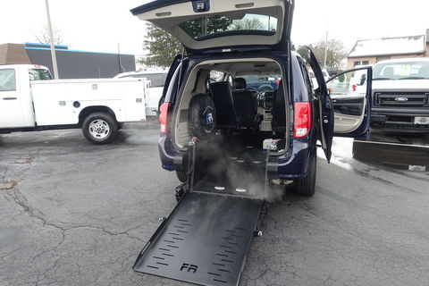Used Wheelchair Van For Sale: 2012 Dodge Caravan SE Wheelchair Accessible Van For Sale with a FR Wheelchair Vans - Dodge Rear Entry on it. VIN: 2C4RDGBG5CR341810