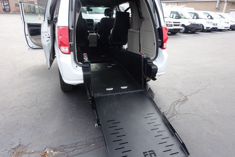Used Wheelchair Van For Sale: 2019 Dodge Caravan SXT Wheelchair Accessible Van For Sale with a FR Wheelchair Vans - Dodge Rear Entry on it. VIN: 2C4RDGCG7KR772713