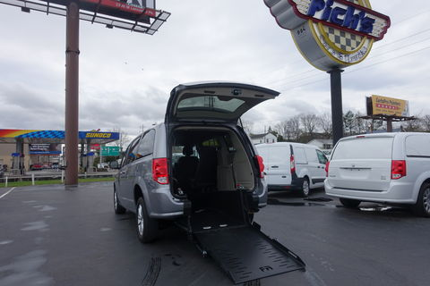 Used Wheelchair Van For Sale: 2019 Dodge Caravan  Wheelchair Accessible Van For Sale with a FR Wheelchair Vans - Dodge Rear Entry on it. VIN: 2C4RDGCG9KR788153