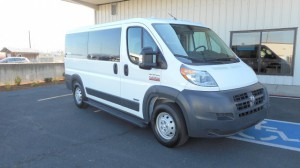Used Wheelchair Van For Sale: 2016 Ram Promaster Low Roof Wheelchair Accessible Van For Sale with a AutoAbility Wheelchair Van Conversions - Wheelchair Accessible Ram Promaster with ramp on it. VIN: 3C3TRVAG8GE129933