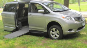 Used Wheelchair Van For Sale: 2015 Toyota Sienna LE Wheelchair Accessible Van For Sale with a VMI - Toyota NorthstarAccess360 on it. VIN: 5TDKK3DC4FS575782