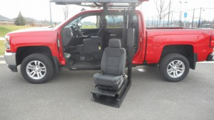 Used Wheelchair Van For Sale: 2018 Chevrolet Silverado LT Wheelchair Accessible Van For Sale with a ATC Wheelchair Truck Conversions - 1500 Chevy & GMC Trucks on it. VIN: 3GCUKREC5JG309172