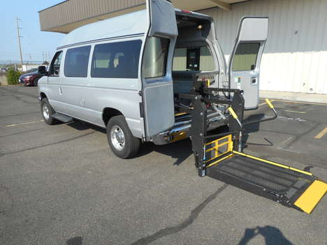 Used Wheelchair Van For Sale: 2013 Ford E-250  Wheelchair Accessible Van For Sale with a High Top Rear Entry Full Size w/ BraunAbility Wheelchair Lift  on it. VIN: 1FTNE2EL3DDA14785