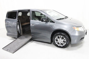 Used Wheelchair Van For Sale: 2012 Honda Odyssey EX Wheelchair Accessible Van For Sale with a Rollx 11 Inch Drop Floor Conversion with In-the-floor Ramp on it. VIN: 01419A