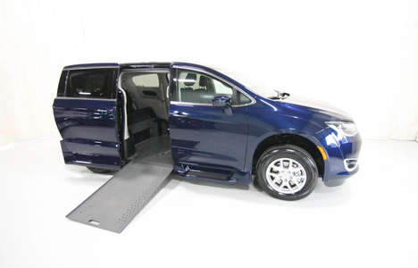 New Wheelchair Van For Sale: 2020 Chrysler Pacifica Touring Wheelchair Accessible Van For Sale with a Rollx 12.5 Inch Drop Floor Conversion with In-the-floor Ramp on it. VIN: 400007
