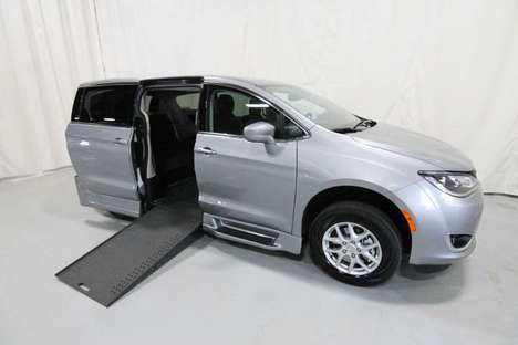 New Wheelchair Van For Sale: 2020 Chrysler Pacifica Touring Wheelchair Accessible Van For Sale with a Rollx 12.5 Inch Drop Floor Conversion with In-the-floor Ramp on it. VIN: 400014