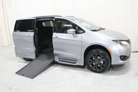 New Wheelchair Van For Sale: 2020 Chrysler Pacifica Touring Wheelchair Accessible Van For Sale with a Rollx 12.5 Inch Drop Floor Conversion with In-the-floor Ramp on it. VIN: 400046