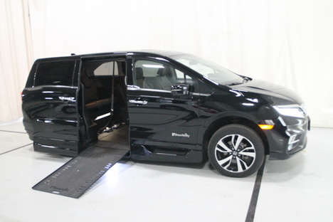 Used Wheelchair Van For Sale: 2019 Honda Odyssey EL Wheelchair Accessible Van For Sale with a BRAUN 11 INCH DROP FLOOR CONVERSION WITH IN-THE-FLOOR RAMP on it. VIN: 400134