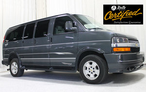 Used Wheelchair Van For Sale: 2014 Chevrolet Express EX Wheelchair Accessible Van For Sale with a Rollx Full Cut Conversion with 6 Drop
