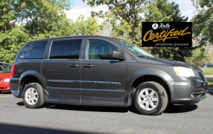 Used Wheelchair Van For Sale: 2011 Chrysler Town & Country Touring Wheelchair Accessible Van For Sale with a Rollx 11 Inch Drop Floor Conversion With Foldout Ramp on it. VIN: 48567A