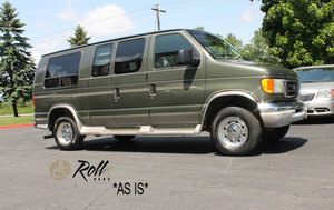 Used Wheelchair Van For Sale: 2003 Ford E-250  Wheelchair Accessible Van For Sale with a Rollx Full Cut Conversion with 6 Drop