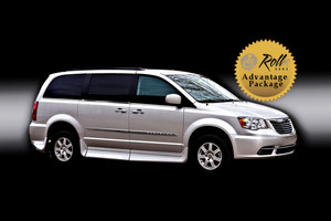 Used Wheelchair Van For Sale: 2011 Chrysler Town & Country Touring Wheelchair Accessible Van For Sale with a Rollx 11 Inch Drop Floor Conversion With In-the-floor Ramp on it. VIN: 48829B