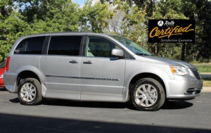 Used Wheelchair Van For Sale: 2015 Chrysler Town & Country Touring Wheelchair Accessible Van For Sale with a Rollx 11 Inch Drop Floor Conversion With In-the-floor Ramp on it. VIN: 48855A