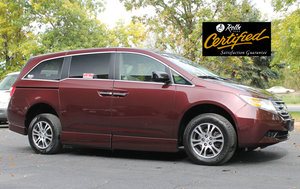 Used Wheelchair Van For Sale: 2011 Honda Odyssey EX Wheelchair Accessible Van For Sale with a Rollx 11 Inch Drop Floor Conversion With In-the-floor Ramp on it. VIN: 48896A