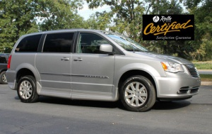 Used Wheelchair Van For Sale: 2014 Chrysler Town & Country Touring Wheelchair Accessible Van For Sale with a Rollx 11 Inch Drop Floor Conversion With In-the-floor Ramp on it. VIN: 48914A