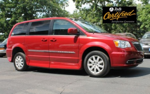 Used Wheelchair Van For Sale: 2014 Chrysler Town & Country Touring Wheelchair Accessible Van For Sale with a Rollx 11 Inch Drop Floor Conversion With In-the-floor Ramp on it. VIN: 48930A