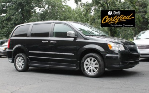 Used Wheelchair Van For Sale: 2012 Chrysler Town & Country Touring Wheelchair Accessible Van For Sale with a Rollx 11 Inch Drop Floor Conversion With In-the-floor Ramp on it. VIN: 48942