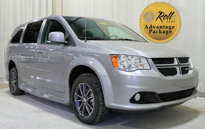 Used Wheelchair Van For Sale: 2017 Dodge Grand Caravan SXT Wheelchair Accessible Van For Sale with a Rollx 11 Inch Drop Floor Conversion With In-the-floor Ramp on it. VIN: 48991