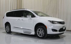 New Wheelchair Van For Sale: 2018 Chrysler Pacifica LT Wheelchair Accessible Van For Sale with a Rollx 12.5 Inch Drop Floor Conversion With In-the-floor Ramp on it. VIN: 49053