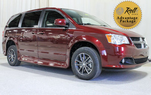 Used Wheelchair Van For Sale: 2017 Dodge Grand Caravan SXT Wheelchair Accessible Van For Sale with a Rollx 11 Inch Drop Floor Conversion With In-the-floor Ramp on it. VIN: 49056