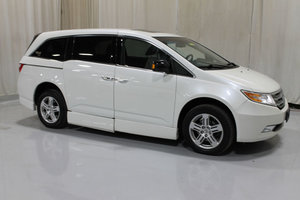 Used Wheelchair Van For Sale: 2013 Honda Odyssey Touring Wheelchair Accessible Van For Sale with a Rollx 11 Inch Drop Floor Conversion with In-the-floor Ramp on it. VIN: 49198A