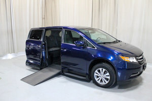Used Wheelchair Van For Sale: 2014 Honda Odyssey EX Wheelchair Accessible Van For Sale with a VMI 12 INCH DROP FLOOR CONVERSION WITH IN-THE-FLOOR RAMP on it. VIN: 49207A