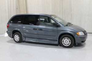 Used Wheelchair Van For Sale: 2005 Dodge Grand Caravan SE Wheelchair Accessible Van For Sale with a Rollx 10 Inch Drop Floor Conversion with Foldout Ramp and Motor Bar on it. VIN: 49353