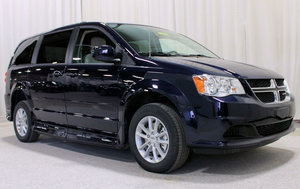 Used Wheelchair Van For Sale: 2015 Dodge Grand Caravan SXT Wheelchair Accessible Van For Sale with a Rollx 11 Inch Drop Floor Conversion with In-the-floor Ramp on it. VIN: 49396