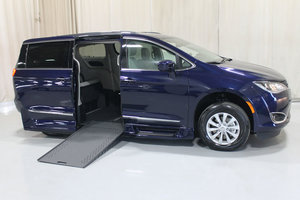 New Wheelchair Van For Sale: 2019 Chrysler Pacifica Touring Wheelchair Accessible Van For Sale with a Rollx 12.5 Inch Drop Floor Conversion with In-the-floor Ramp on it. VIN: 49492