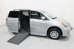 Used Wheelchair Van For Sale: 2010 Honda Odyssey EX Wheelchair Accessible Van For Sale with a Rollx 11 Inch Drop Floor Conversion with In-the-floor Ramp on it. VIN: 49512A