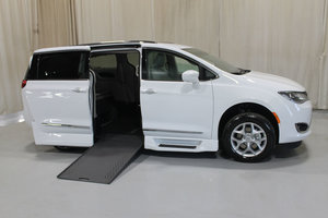 New Wheelchair Van For Sale: 2019 Chrysler Pacifica + Wheelchair Accessible Van For Sale with a Rollx 12.5 Inch Drop Floor Conversion with In-the-floor Ramp on it. VIN: 49565
