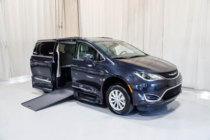New Wheelchair Van For Sale: 2019 Chrysler Pacifica Touring Wheelchair Accessible Van For Sale with a Rollx 12.5 Inch Drop Floor Conversion with In-the-floor Ramp on it. VIN: 49589