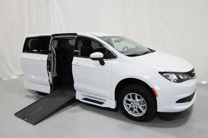 Used Wheelchair Van For Sale: 2017 Chrysler Pacifica Touring Wheelchair Accessible Van For Sale with a Rollx 12.5 Inch Drop Floor Conversion with In-the-floor Ramp on it. VIN: 49614A