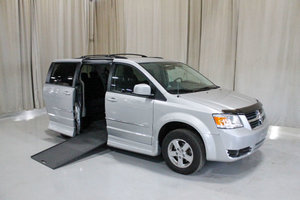 Used Wheelchair Van For Sale: 2010 Dodge Grand Caravan SXT Wheelchair Accessible Van For Sale with a Rollx 11 Inch Drop Floor Conversion with In-the-floor Ramp on it. VIN: 49668