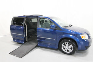 Used Wheelchair Van For Sale: 2010 Dodge Grand Caravan S Wheelchair Accessible Van For Sale with a Rollx 11 Inch Drop Floor Conversion with In-the-floor Ramp on it. VIN: 49675A