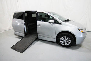 Used Wheelchair Van For Sale: 2014 Honda Odyssey EX Wheelchair Accessible Van For Sale with a Rollx 11 Inch Drop Floor Conversion with In-the-floor Ramp on it. VIN: 49678A