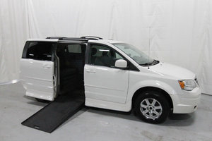 Used Wheelchair Van For Sale: 2008 Chrysler Town & Country Touring Wheelchair Accessible Van For Sale with a Rollx 11 Inch Drop Floor Conversion with In-the-floor Ramp on it. VIN: 49697A