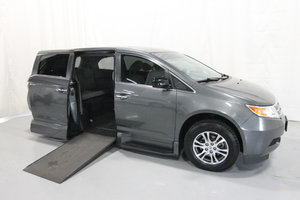 Used Wheelchair Van For Sale: 2012 Honda Odyssey EX Wheelchair Accessible Van For Sale with a Rollx 11 Inch Drop Floor Conversion with In-the-floor Ramp on it. VIN: 49699A