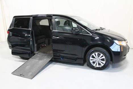 Used Wheelchair Van For Sale: 2017 Honda Odyssey XL Wheelchair Accessible Van For Sale with a Rollx 11 Inch Drop Floor Conversion with In-the-floor Ramp on it. VIN: 49706A