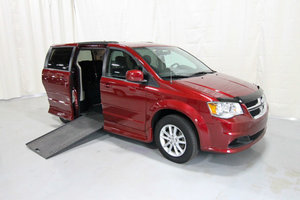 Used Wheelchair Van For Sale: 2015 Dodge Grand Caravan SXT Wheelchair Accessible Van For Sale with a Rollx 11 Inch Drop Floor Conversion with In-the-floor Ramp on it. VIN: 49714