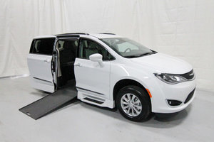 New Wheelchair Van For Sale: 2019 Chrysler Pacifica Touring Wheelchair Accessible Van For Sale with a Rollx 12.5 Inch Drop Floor Conversion with In-the-floor Ramp on it. VIN: 49734