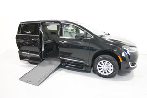 New Wheelchair Van For Sale: 2019 Chrysler Pacifica Touring Wheelchair Accessible Van For Sale with a Rollx 12.5 Inch Drop Floor Conversion with In-the-floor Ramp on it. VIN: 49735