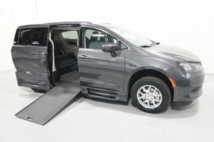 New Wheelchair Van For Sale: 2020 Chrysler Town & Country LX Wheelchair Accessible Van For Sale with a Rollx 12.5 Inch Drop Floor Conversion with In-the-floor Ramp on it. VIN: 49740