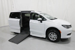 New Wheelchair Van For Sale: 2020 Chrysler Town & Country LX Wheelchair Accessible Van For Sale with a Rollx 12.5 Inch Drop Floor Conversion with In-the-floor Ramp on it. VIN: 49744