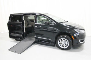 New Wheelchair Van For Sale: 2019 Chrysler Pacifica + Wheelchair Accessible Van For Sale with a Rollx 12.5 Inch Drop Floor Conversion with In-the-floor Ramp on it. VIN: 49747
